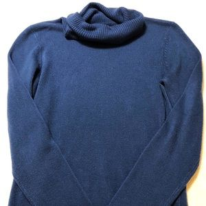 H&M Blue Cowl Neck Sweater